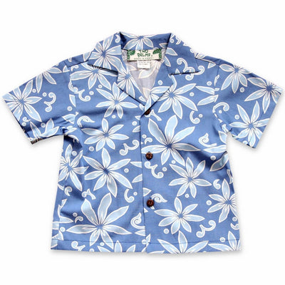 Lanikai Blue Hawaiian Boy Shirt - 2 / Blue - Boys Hawaiian Shirts