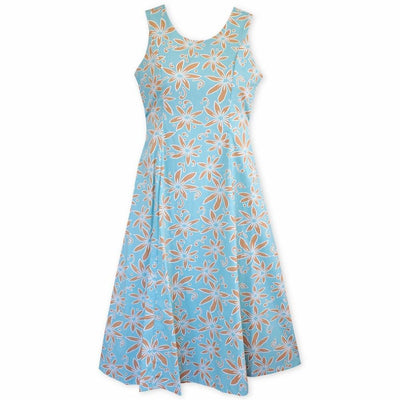 Lanikai Tan Darling Hawaiian Midi Dress - Womens Dress