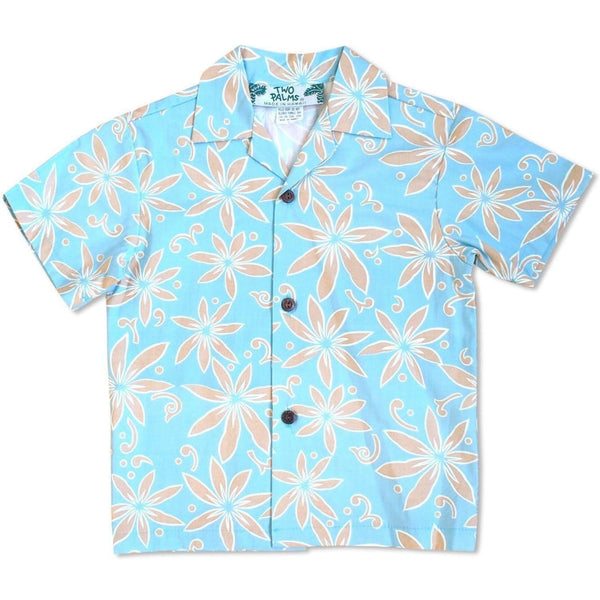 Lanikai Tan Hawaiian Boy Shirt - Boys Hawaiian Shirts