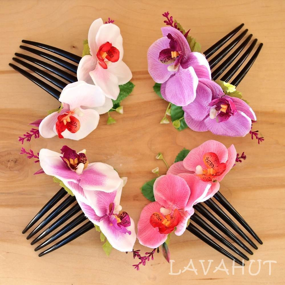 Lilac Orchid Joy Hawaiian Hair Comb - Hair Accessories