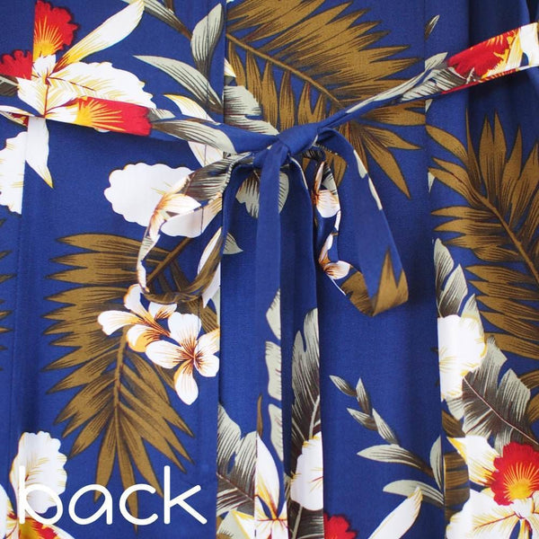 Majestic Blue Darling Midi Hawaiian Dress - Womens Dress