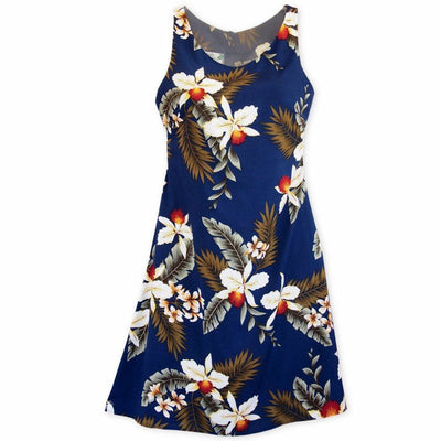 Majestic Blue Fiesta Hawaiian Dress - Women's Dress