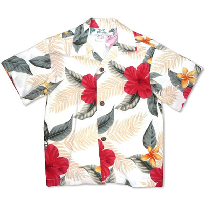 Makaha Cream Hawaiian Boy Shirt - 2 / Cream - Boys Hawaiian Shirts
