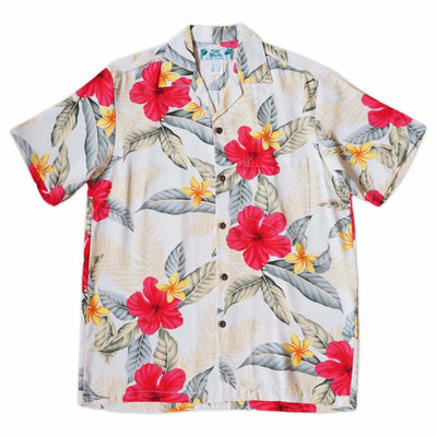 Makaha Cream Hawaiian Rayon Shirt - s / Cream - Men's Shirts