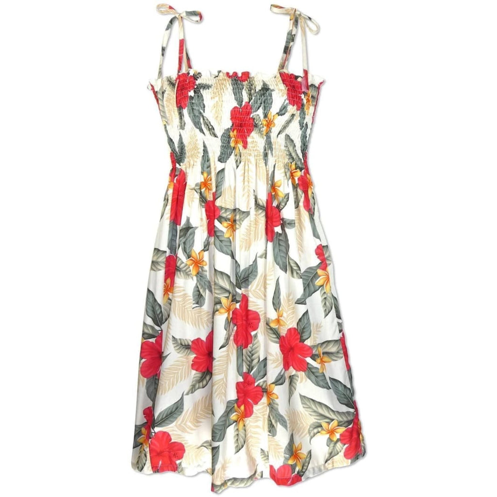 Makaha Cream Moonkiss Hawaiian Dress - One Size / Cream - Womens Dress