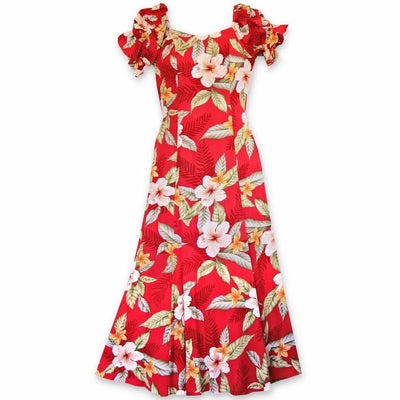 Makaha Red Aikane Hawaiian Dress - s / Red - Women's Dress
