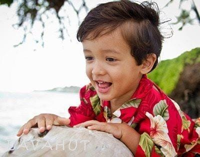 Makaha Red Hawaiian Boy Shirt - Boy's Hawaiian Shirts