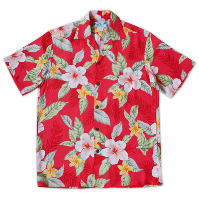 Makaha Red Hawaiian Rayon Shirt - s / Red - Men's Shirts