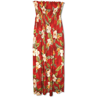 Makaha Red Maxi Hawaiian Dress - One Size / Red - Women's Dress