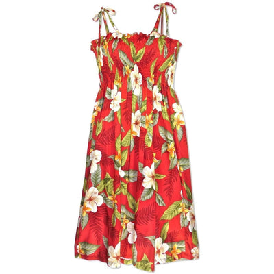 Makaha Red Moonkiss Hawaiian Dress - One Size / Red - Women's Dress