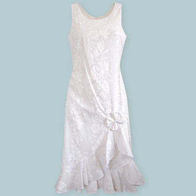 Makamae Naniloa Hawaiian Wedding Dress - s / White - Women's Dress