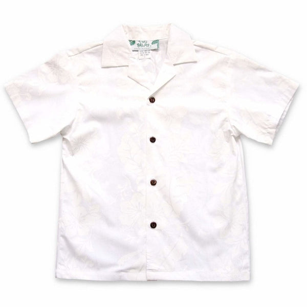Makamae White Hawaiian Boy Shirt - Boys Hawaiian Shirts