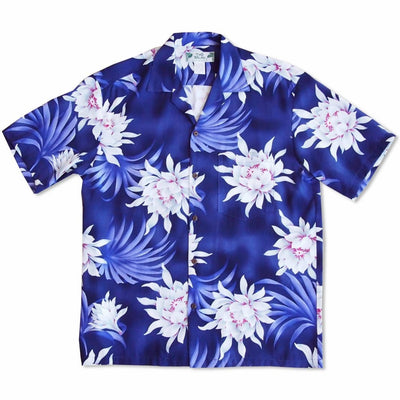 Manoa Cereus Purple Hawaiian Rayon Shirt - Men's Shirts