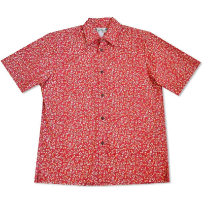 Maui Wowie Red Hawaiian Reverse Shirt - Mens Shirts
