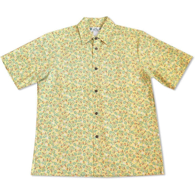 Maui Wowie Yellow Hawaiian Reverse Shirt - Men's Shirts