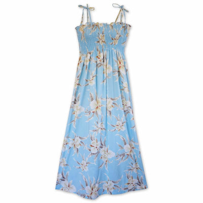 Mele Blue Maxi Hawaiian Dress - One Size / Baby Blue - Women's Dress