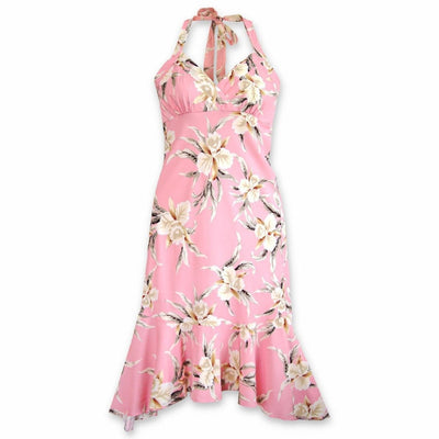 Mele Pink Akua Hawaiian Dress - S / Pink - Womens Dress