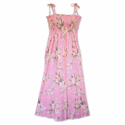 Mele Pink Maxi Hawaiian Dress - One Size / Pink - Womens Dress