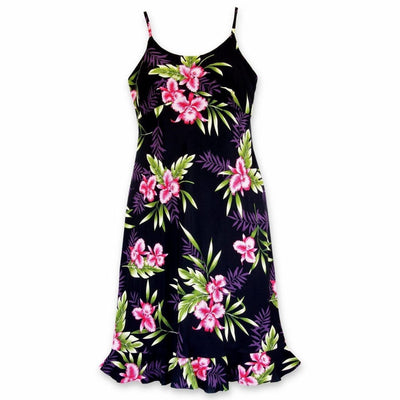 Midnight Black Kamalii Hawaiian Dress - S / Black - Womens Dress