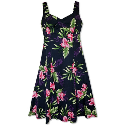 Midnight Black Molokini Hawaiian Dress - s / Black - Women's Dress