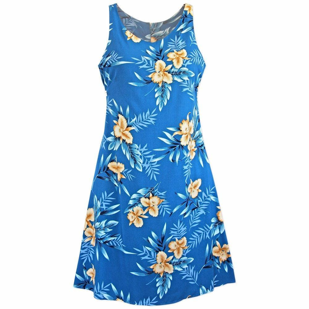 Midnight Blue Fiesta Hawaiian Dress - Womens Dress