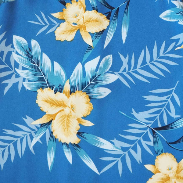 Midnight Blue Hawaiian Girl Rayon Dress - Girls Hawaiian Dresses