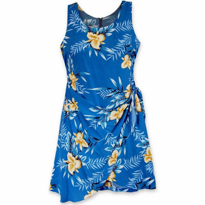 Midnight Blue Honi Hawaiian Dress - Women's Dress