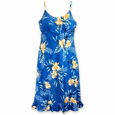 Midnight Blue Kamalii Hawaiian Dress - s / Blue - Women's Dress