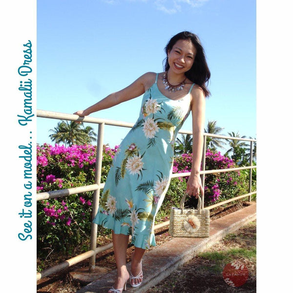 Midnight Blue Kamalii Hawaiian Dress - Womens Dress