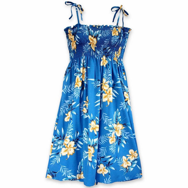 Midnight Blue Moonkiss Hawaiian Dress - Womens Dress