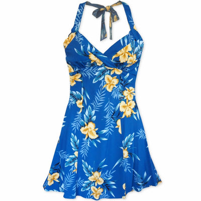 Midnight Blue Napali Hawaiian Dress - s / Blue - Women's Dress
