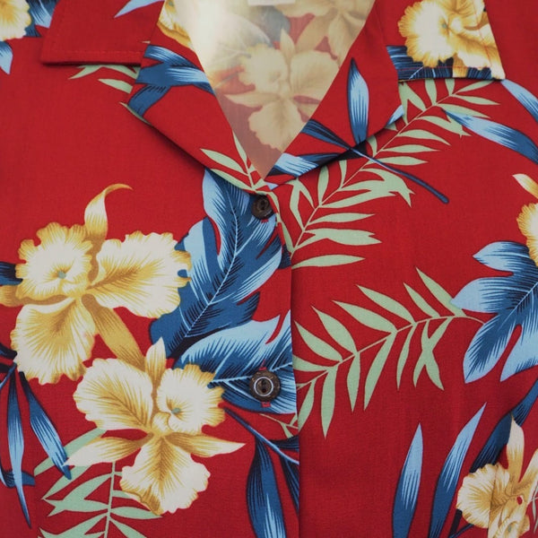 Midnight Maroon Ladys Hawaiian Sleeveless Blouse - Womens Blouses