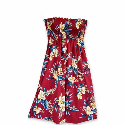 Midnight Maroon Moonkiss Hawaiian Dress - One Size / Maroon - Women's Dress