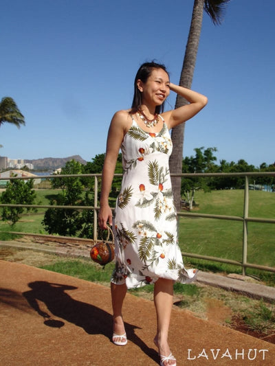 Moon White Kamalii Hawaiian Dress - Women's Dress