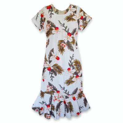 Moon White Laka Hawaiian Dress - Women's Dress