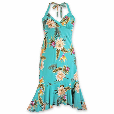 Mountain Green Akua Hawaiian Dress - s / Green - Women's Dress