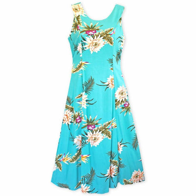 Mountain Green Darling Midi Hawaiian Dress - Women's Dress