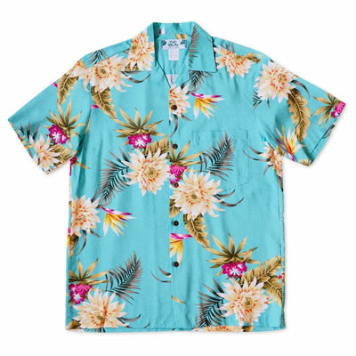 Mountain Green Hawaiian Rayon Shirt - s / Green - Men's Shirts