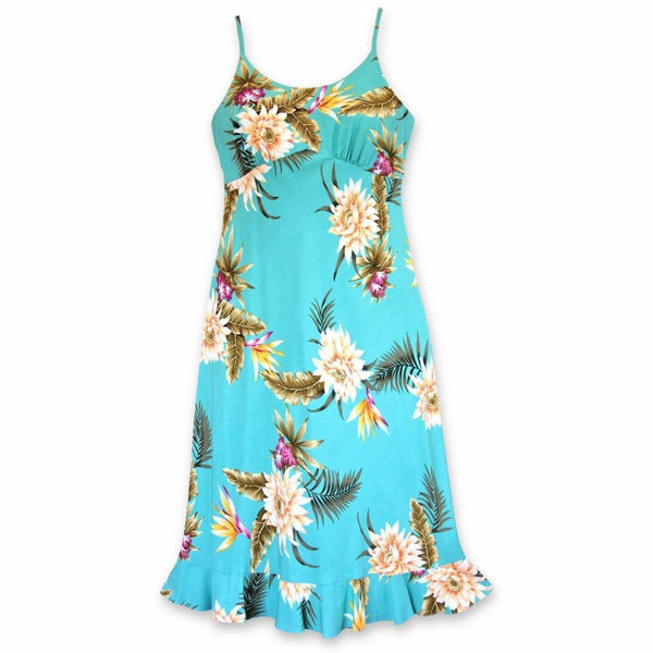 Mountain Green Kamalii Hawaiian Dress - Womens Dress