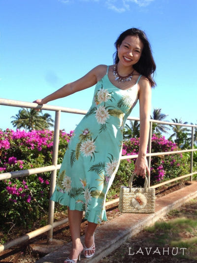 Mountain Green Kamalii Hawaiian Dress - Women's Dress