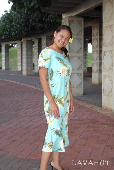Mountain Green Laka Hawaiian Dress - Women's Dress