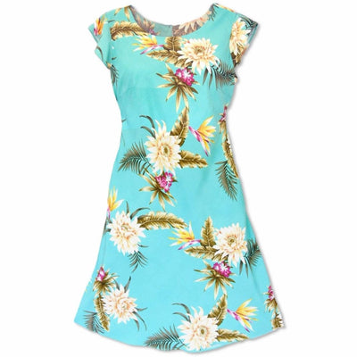 Mountain Green Xoxo Hawaiian Dress - Women's Dress