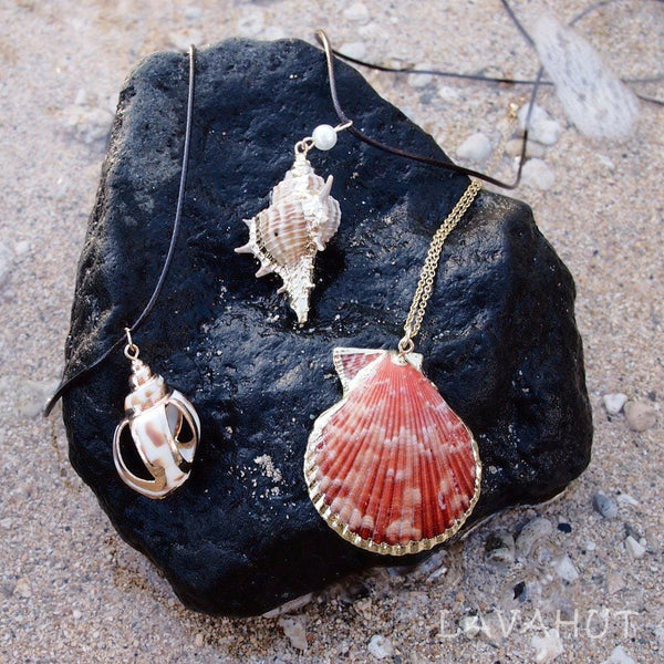 Nautical Spotted Seashell Hawaiian Pendant Necklace - Necklaces