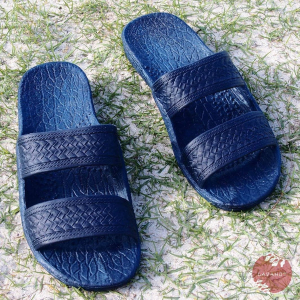 Navy Blue Classic Jandals® - Pali Hawaii Sandals - Hawaiian Sandals