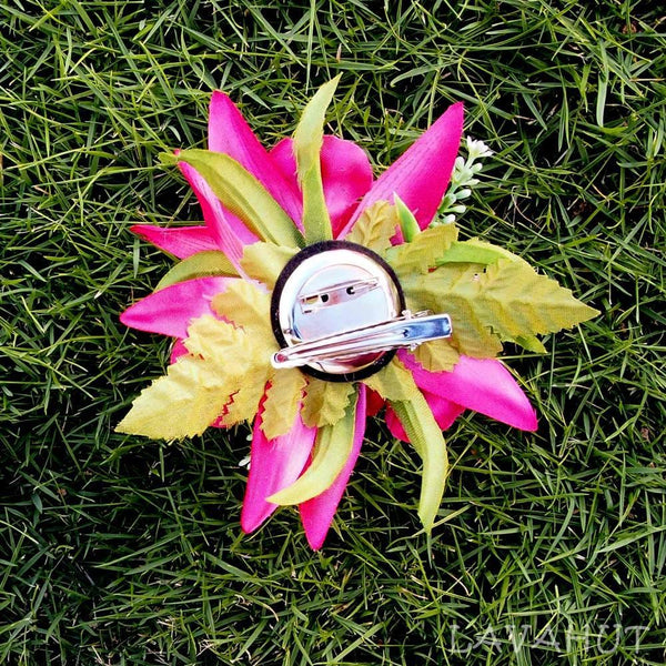 Orchid Burst Pink Hawaiian Flower Hair Clip - Hair Accessories