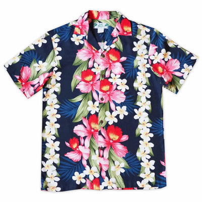 Orchid Play Blue Hawaiian Rayon Shirt - s / Blue - Men's Shirts
