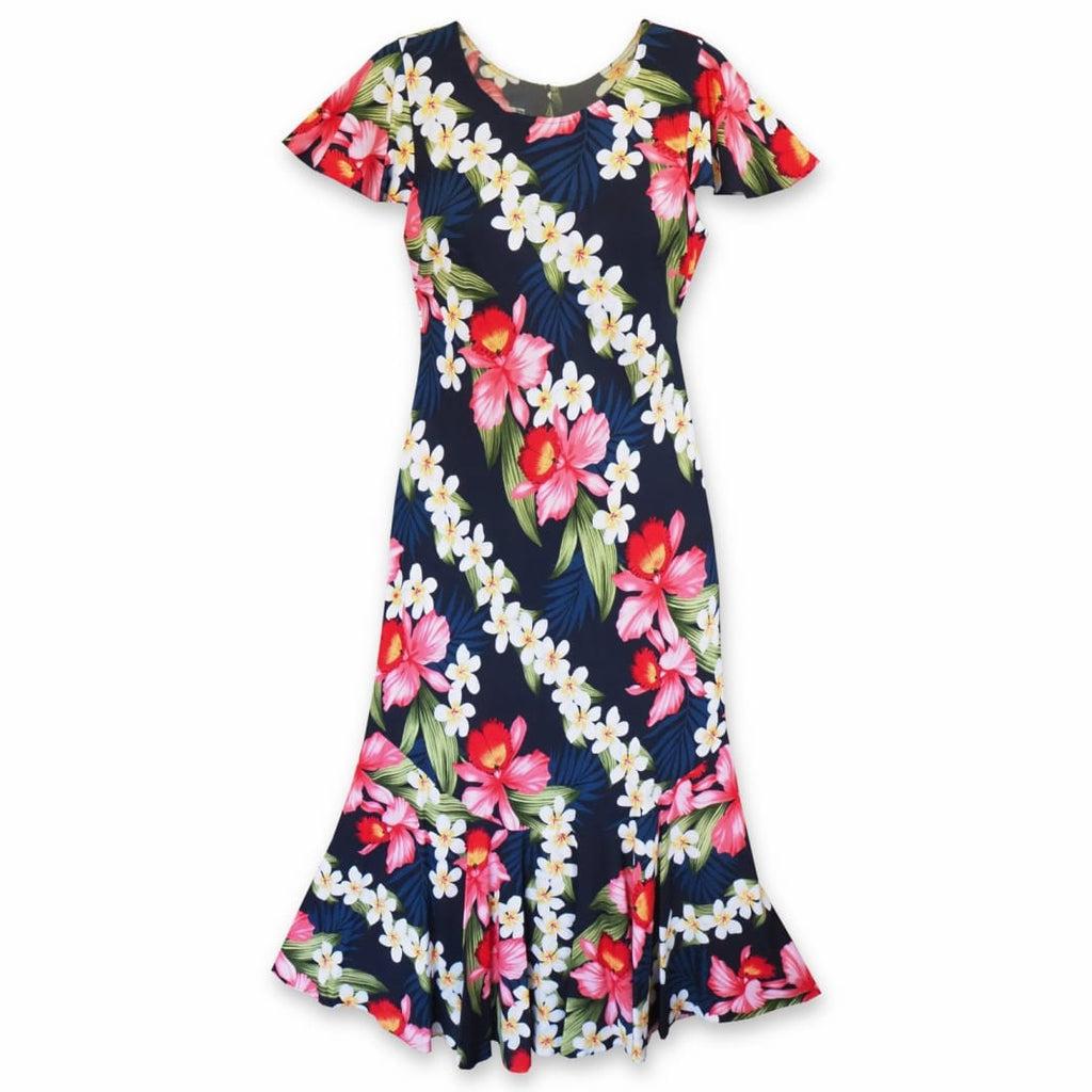 Orchid Play Blue Malia Hawaiian Dress - S / Blue - Womens Dress
