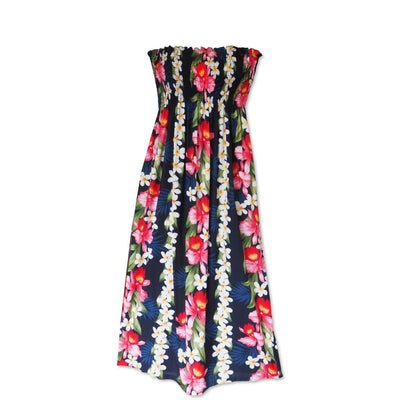 Orchid Play Blue Maxi Hawaiian Dress - Womens Dress