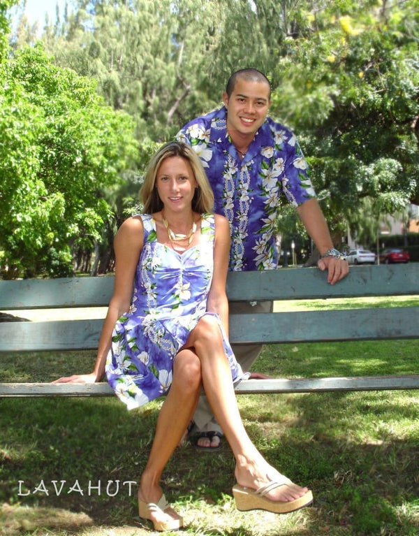 Orchid Purple Aloha Hawaiian Sundress - Womens Dress