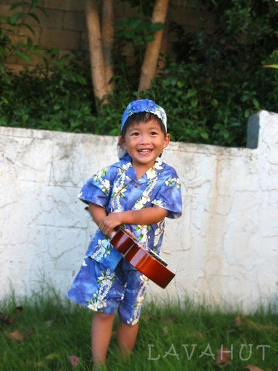 Orchid Purple Hawaiian Boy Shirt & Shorts Set - Boy's Hawaiian Shirts